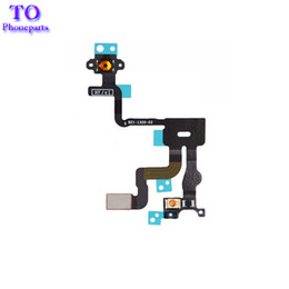 Wholesale Iphone Proximity Sensor Wholesale - High Quality Proximity Light Sensor Power Button Flex Cable Switch On Off Ribbon Replacement parts For Iphone 4 4G 4S free shipping