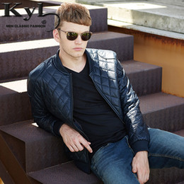 Wholesale Leather Long Coats For Men - Wholesale- 2016 Men's New Arrival PU Leather Jacket Slim Stand Collar Autumn&Winter Plus Velvet Jacket Coat For Male 611