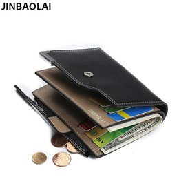 Wholesale Change Purse Hasp - Coin Bag Famous Brand Men Wallets with Zipper Change Pocket Solid Card Holder Wallets Casual Wallets Men Purses