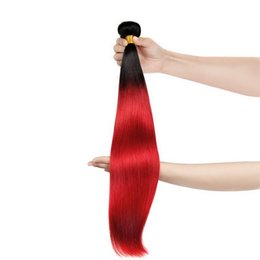 Wholesale Product Samples - Brazilian Ombre Red hair extensions weaving 1 PC Sample Silky Straight remy human hair Weaves Super Nice bundles Uglam hair products