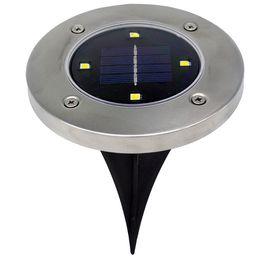 Wholesale Patio Lighting Solar - 2017 New 4 LED solar lawn lights outdoor decoration lights garden floor lamp patio decoration lights fast shipping DHL
