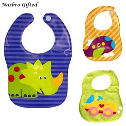 grossista bibs de plástico para bebês Desconto Atacado- New Kids Criança Translúcido Plástico Macio Do Bebê À Prova D 'Água Bibs EVA Frete Grátis M1