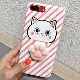 Wholesale Iphone Case Cut - Soft Cat Phone6 Plus Decompression Phone Case 6S 7plus Painted Soft Shell cut cartoon Silicone Phone Accessories 015