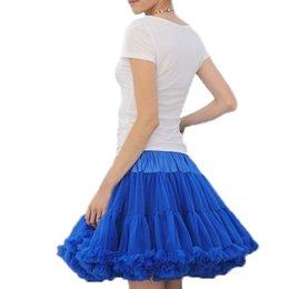 Wholesale Pettiskirts For Girls - Womens Skirt Fluffy Chiffon Pettiskirts tutu skirts girls Princess Party Skirt For Lady adult tulle skirt