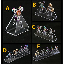 Wholesale Led Display Show - Acrylic Fidget Spinner Display Stand Clear Holder Rack Case For Metal Plastic LED Fidget Spinners Decompression Anti Stress Hand Toys Show