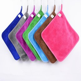 Wholesale Absorbent Dish Towels - Home kitchen cloths can hang bamboo fiber wash cloth is not contaminated with oil absorbent lint-free dish towel IC791