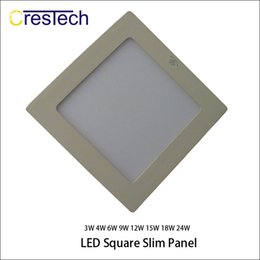 Wholesale 3w Warm White Ceiling - Home office kitchen using commercial LED lamp 3W 6W 9W 12W Toilet LED ceiling lamp Silm panel ligh