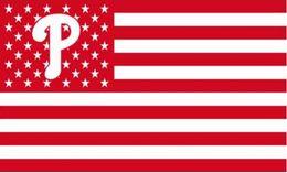 Wholesale Phillies Flag - Philadelphia Phillies USA Stars and Stripes Flag 150CM*90CM 3*5FT Polyester Custom Banner Sports Flag P3