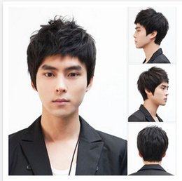 2019 capelli alti Parrucche sintetiche Parrucche per uomo Moda parrucche per uomo Parrucche per capelli nere peruca