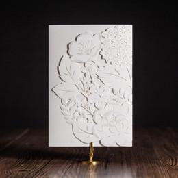 Wholesale Printable Sheet - Wholesale- 2016New White Luxury Laser cut Wedding invitations Elegant Wedding Invitation card Printable Inner Sheet Customize, 50 sets lot