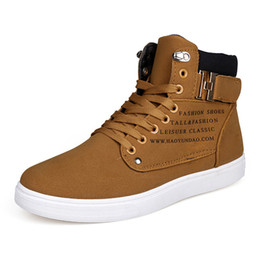 Wholesale Shoes For Teenagers - Wholesale-2016 New Fashion Shoes Warm Men Shoes Tenis Masculino Male Men's Comfortable High Top Casual Shoes For Adults Teenagers Canvas