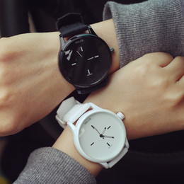 Wholesale Jelly Watches For Women - Original MILER Brand Soft Silicone Strap Jelly Quartz Watch Wristwatches for Women Ladies Lovers Black White