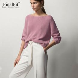 Wholesale Women Loose Fitting Sweaters - Wholesale- FinalFit Women's Loose Fit Sweater, Ladies Pullover