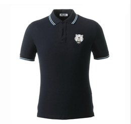 Wholesale High Quality Polo Shirts Men - New cotton men's striped polo shirt High quality luxurious pure color men's polo shirt with the logo for free delivery