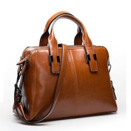 Wholesale Handbag Real - Real Cow Leather Ladies HandBags Women Genuine Leather bags Totes Messenger Bags Hign Quality Designer Luxury Brand Bag