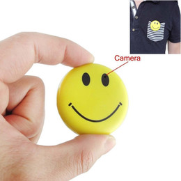 Wholesale Smile Video - Smiley Face Camera & Digital Video Recorder, Best Smile Face Badge Wearable Camera Mini Video Recorder, Photo, Video