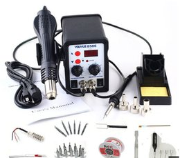 Wholesale Hot Air Iron - YOUYUE 8586 AC 110V   220V 700W 2 in 1 SMD Rework Soldering Station Hot Air Gun Solder Iron With Free Gifts For Welding Repair+free shipping