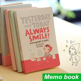 Wholesale Girls Journal - Wholesale- Soft Copybook Cute Notebook Red Hat Girl Agenda Week Plan Diary Day Planner Journal Record Stationery Office School Supplies
