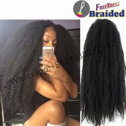 Wholesale afro kinky hair braid - 18inch 100g afro kinky twist synthetic hair crochet braids muliti-color kinky Marley Senegalese Twist Crochet synthetic Braiding Hair