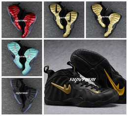 Wholesale Pro Star Sports - 2017 New Brand Sneakers Air Bubble jet Penny Hardaway Pro Fleece Men Basketball Shoes Eggplant Luxury Gold Color Galaxry Sports Shoe