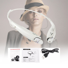 Wholesale Earphones For Iphone5 White - HBS-730 Sport Bluetooth Headset Stereo Wireless Headphones Earphones For LG iphone5 7 Samsung With Retail Package