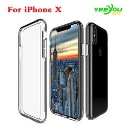 Wholesale Wholesale Iphone Goophone - Crystal Clear case Soft Silicone Transparent TPU Cover for iPhone 7 8Plus 6S Plus Samsung Galaxy Note 8 S7 edge Goophone i7 Plus