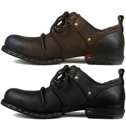 Wholesale Tooling Boots Fashion - British Style 2017 New Fashion Luxury Genuine leather Boots popular men's tooling shoes Men Dress Boots Business shoes, EU3844