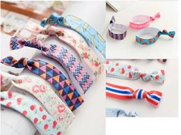 Wholesale Yoga Hair Ties Wholesale - 2017 Children's Hair Accessories Baby girls Hairbands Yoga Hair Ties Ponytail Band stripe Knotted Ties hair tie