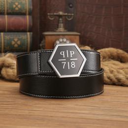 Wholesale Q Man - Hot Designer Width Belts Men High Quality Cow Genuine Leather Luxury Mens Fashion PP Belts Strap Male Big Buckle Q belt For Gift