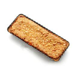 Wholesale Ceramic Pie - Wholesale- Rectangle Non Stick Carbon Steel Removable Loose Bottom Tart Pie Pan 14 x 6 Inch