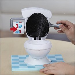Wholesale Tricky Toilet Toy - 2017 New kids toy Toilet trouble game Washroom Tricky Toys Funny Game parents-kids friends play together for fun as a gift