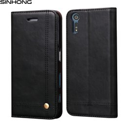 Wholesale Xperia Pouch - Luxury Vintage PU Leather Wallet Phone Case For Sony Xperia XZ XZs Cover Flip Pouch Capa Card Slot Kickstand Magnet Fundas