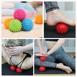 Wholesale Fitness Balance - Massage Ball Spikey Point Massage Ball Yoga Ball Trigger Roller Exercise Balance Point Body Message Fitness Equipment for kids Audlt