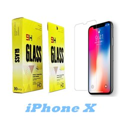 Wholesale 5s Iphone Protector - 0.3mm 2.5D Tempered Glass Screen Protector For iphone X 8 7 6 5 5S HD Toughened Protective Film with packing DHL