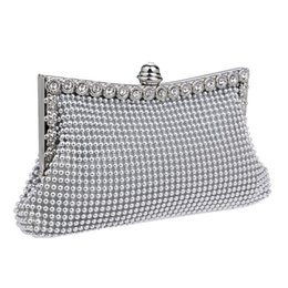 Wholesale Day Bag Beading - Wholesale- HOT rhinestones evening bags purse evening bags day clutches handbags chain shoulder bags