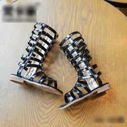 Wholesale Girls Fashion Buckle Boots - Fashion New product Rome Wind Children Girls Shoes Ankle Boots Sandal Shoe buckle Kids Plastic Shoe Princess Sandals 5pair lot A6113