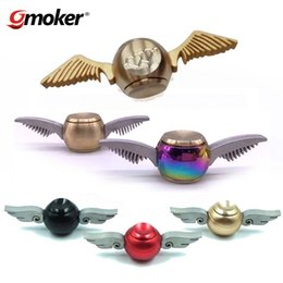 Wholesale Gold Hand Fans - Generation 1 2 3 Harry Potter Golden Snitch Fidget Spinners Metal Copper New Designs Decompression Toys Fans Hand Spinner Gyro Spiral