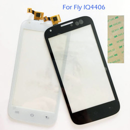 Wholesale Iq Iphone - Wholesale- 4.5'' Touch Screen Digitizer White For Fly IQ4406 IQ 4406 ERA Nano 6 touchscreen Replacement Touch Panel Lens Front Glass Lens