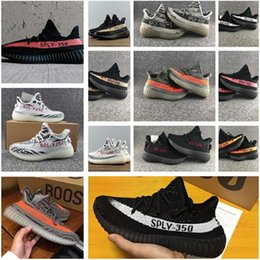 Wholesale Elastic Rubber Sports Running - 2017 New SPLY-350 Boost V2 Kanye West Sneakers BY1605 Running Shoes Men Women Sport Shoe 350 BOOTS Size US 5.5 to US 13