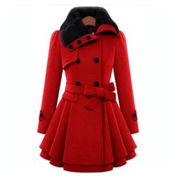 Wholesale Double Hood Jacket - New 2017 Women Woolen Thicken Warm Winter Coat Hood Parka Overcoat Long Jacket