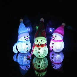 Decorazione illuminata tavolo online-2017 6 pollici regalo di Natale Bella Santa Decorazioni da tavolo LED luce che cambia Pupazzo di neve di Natale LED Night Light Marca E1770