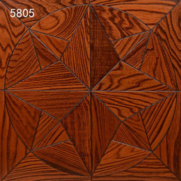 Decoración de pared de alta gama online-Balck Elm wood flooring Background wall products parquet home Decor room living rugs livingmall tile marquetry medallion inlay high-end engineeed timer hardwood