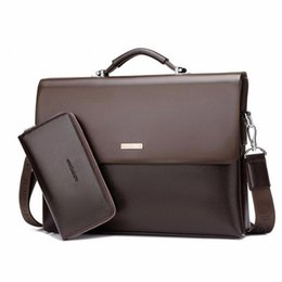 Wholesale Designer Bag Men Leather - Designer Handbag High Quality PU Leather Messenger Bag Famous Brand Business Laptop Computer Handbag Briefcases Men Tote Bag Set