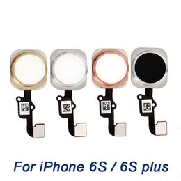 Wholesale Cable Menu - Home Button Flex Cable For iPhone 6S 6S Plus, grade A+ Home Main Menu Key with flat Ribbon complete