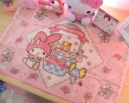 Wholesale Bamboo Picnic - Wholesale- hello kitty KT cat mat table mat Melody cute cartoon outdoor picnic mat waterproof wallpaper