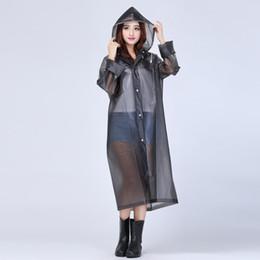 2019 batteria coreana Nuovo 2018 di alta qualità di lunghezza del ginocchio Rainwear trasparente impermeabile con cappuccio di pioggia Coat EVA amichevole EVA trasparente impermeabile donne Rainwear