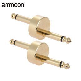 Wholesale Pedal Connectors - Wholesale- 2 Pack 1 4 Inch 6.35mm Z Type Guitar Effect Pedal Coupler Connector Guitar Pedal Board Accessory