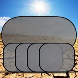 Wholesale Sucker Punch - 5Pcs 3D Photocatalyst Mesh Sun Visor Window Screen Sunshade Car Curtain Car Cover Sunshade Car interior Product With Two Sucker
