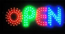 Wholesale Neon Open Sign Wholesale - 2017 colorful shiny LED OPEN sign neon light billboard for restaurant, salon, coffe shop, bar