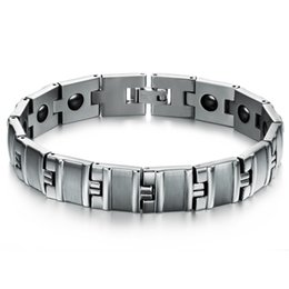 Wholesale Wholesale Valentines Presents - Valentine day presents for boy friend free sample * 316L men's stainless steel bracelet (bracelets chain chains) with magnets ZY80G